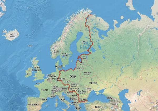Iron curtain bike trip